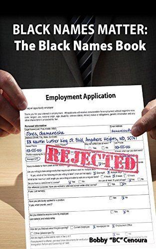 Black Names Matter: The Black Names Book